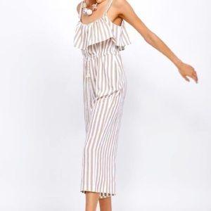 Zara Striped Sleeveless Jumpsuit